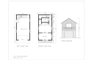 Mini coach house Floor plan and Elevation 1-page-001