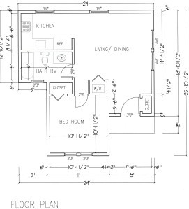scanned for site cottage plan