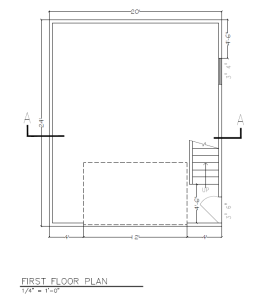 20 x 24 frirst floor plan